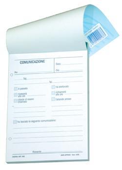 BLOCCO  COMUNICAZIONI TELEFON. 10X14