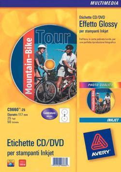 COPERTINA AVERY CD INKJET BIANCHE FF25