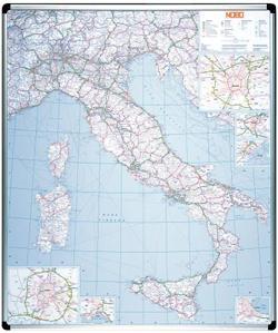 CARTINA MAGNETICA ITALIA 123X105