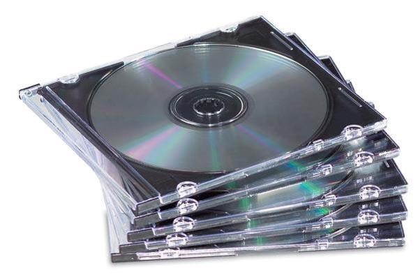 CUSTODIA CD SLIM TRASPARENTE CF.10
