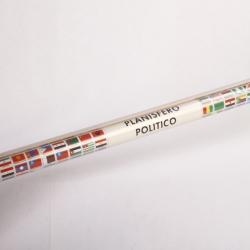 CARTINA MURALE MONDO C/BANDIERE 132X99