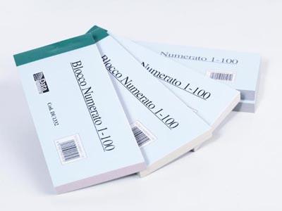 BLOCCHETTI NUMERATI 1-100 15X9 CF.10