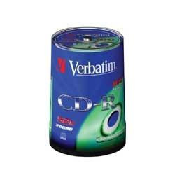 CD-R VERBATIM 700MB CAMPANA 100PZ