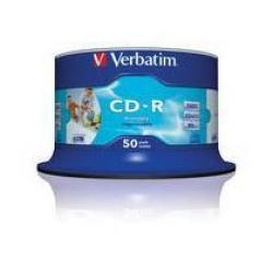 CD-R VERBATIM CAMPANA 50 PEZZI PRITABLE