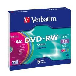 DVD-RW VERBATIM SLIM 4X CF.5