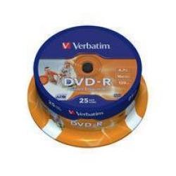 DVD-R VERBATIM CAMPANA 25 PEZZI 6X PRINTEBLE
