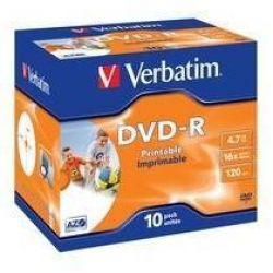 DVD-R VERBATIM 4,7GB 16X PRINTABLE CF.10