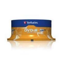 DVD-R VERBATIM CAMPANA 25 PEZZI 16X 4,7GB