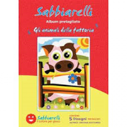 ALBUM GLI ANIMALI DELLA FATTORIA 5 DISEGNI 15X20