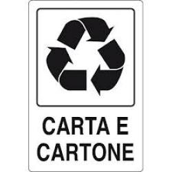 CARTELLO SEGNALETICO ADESIVO CARTA E CARTONE 30X20