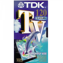 CASSETTE VIDEO VHS 240 TDK TV CF.2