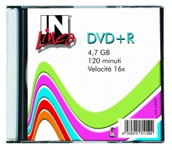 DVD+R IN UFFICIO 120 MIN 4,7GB 4X