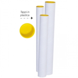 TUBO CARTONE CM54 D.6 CON TAPPO PLASTICA