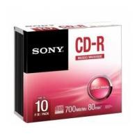CD-R SONY R80 700MB 52X CF.10 10CRM80SS
