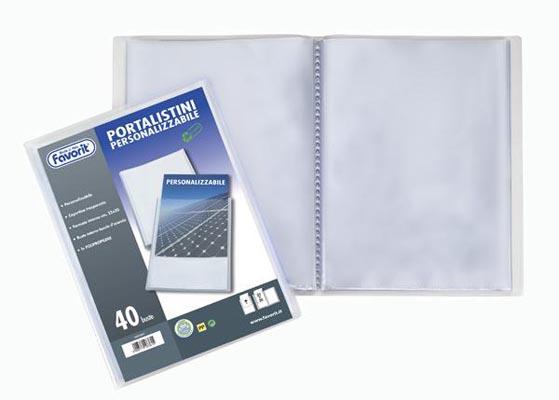 PORTALISTINO PPL 22X30 100 BUSTE COPERTINA PERSONALIZZABILE
