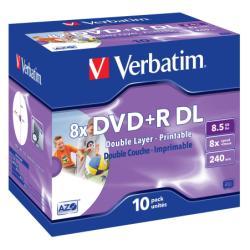 DVD+R VERBATIM D.LAYER 8,5GB 8X PRINTAB LE CF.10