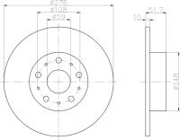 Disco freno (1 pezzo)