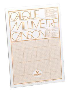 BLOCCO CANSON CARTA MILLIMETRATA 29X42 O PACA G90 FF50