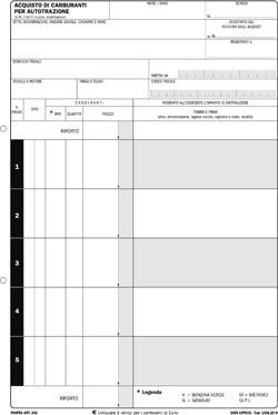 BLOCCO DATA UFFICIO ACQUISTI CARBURANTE 15X21