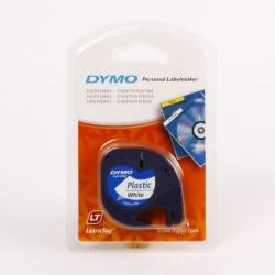 NASTRO DYMO LETRATAG 12X4 PLASTICA BIANCO 912010