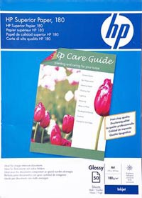 CARTA HP A4 GLOSSY C6818AGR.180 FRON/RET R. INK JET CF.50