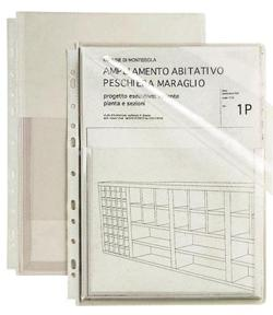BUSTA CON SOFFIETTO+PAT FORATURA UNIVERSALE 21X297 CF.10
