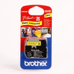NASTRO BROTHER 9MM MK-621 NERO/GIALLO