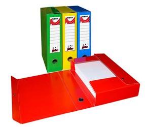 CARTELLA IN LINEA PLASTICA CON BOTTONE DORSO 4 INBOX CF.5 VERDE