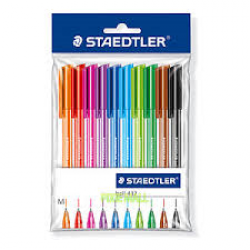 PENNA SFERA STAEDLER BALL ART.432 COLORATE CF.10