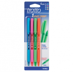 PENNA SFERA TRATTO1 GRIP BLISTER 4 PZ ASSORTITI