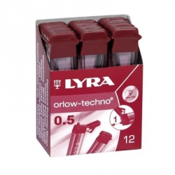MINA NERA LYRA 0,5 F ASTUCCIO PZ.12
