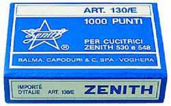 PUNTI CUCITRICE ZENITH 130E CF.4X1000 BLISTER