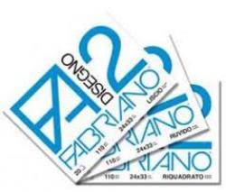 ALBUM DISEGNO FABRIANO F2 24X33 RUVIDO FF20 P/MET. G110