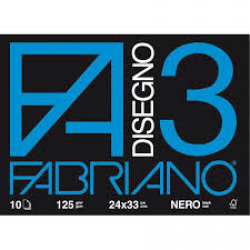 ALBUM DISEGNO FABRIANO F3 24X33 NERO FF10