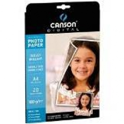CARTA INKJET CANSON PHOTO A4 G210 FF20 SATINATA