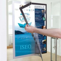 CORNICE MAGNETICA DURABLE DURAFRAME POSTER A1 ARGENTO