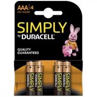 PILA DURACELL M/STILO 1,5V AAA SIMPLY BLISTER 4