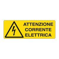 CARTELLO ALLUMINIO 35X12 ATTENZIONE CORRENTE ELETTRICA