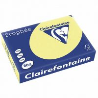 RISMA CLAIREFONTAINE TROPHE A4 G80 FF500 GIALLO