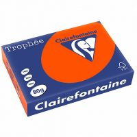 RISMA CLAIREFONTAINE TROPHE A4 G80 FF500  ROSSO CARDINALE