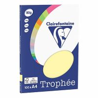 RISMA CLAIREFONTAINE TROPHE A4 G80 FF100  GIALLO CANARINO