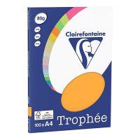 RISMA CLAIREFONTAINE TROPHE A4 G80 FF100  ARANCIO