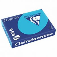 RISMA CLAIREFONTAINE TROPHE A4 G80 FF500  BLU ROYAL 1976