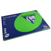 RISMA CLAIREFONTAINE TROPHE A3 G80 FF100  VERDE FLUO