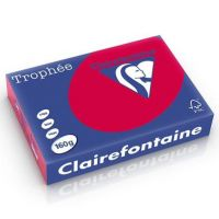 RISMA CLAIREFONTAINE TROPHE A4 G160 FF250  ROSSO RIBES