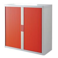 ARMADIO PAPERFLOW 110X41X204H BCO/ROSSO