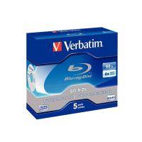 BLU RAY VERBATIM 50GB 6X CF.5PZ 43753/5