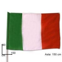 BANDIERA ITALIA C/ASTA 90X150