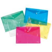 CARTELLA PLASTICA CON BOTTONE A5 15X21 COLORI ASSORTITI PLASTIDEA CF.5