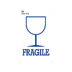 ETICHETTA ADESIVA MARKIN 115X70 FRAGILE FF10 (20 ETICHETTE)